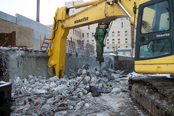 commercial demolition, pinto construction buffalo ny